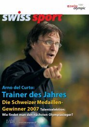 Trainer des Jahres - Swiss Olympic