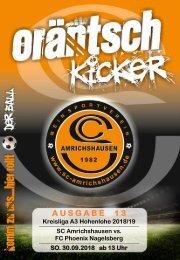 Ausgabe 13 / SCA - FC Phoenix Nagelsberg