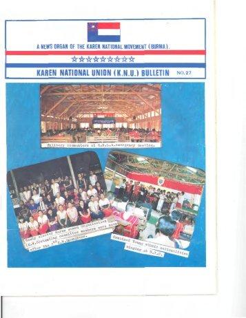 KNU Bulletin No. 27, December 1993