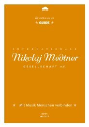 Pocket-Broschüre Medtner-Gesellschaft DIN A 6 (1)