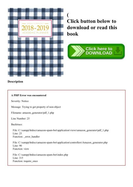 DOWNLOADPDF} 2018-2019 Academic Planner Weekly And Monthly