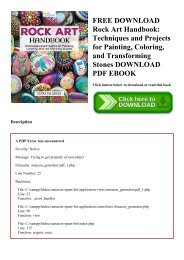 FREE DOWNLOAD Rock Art Handbook Techniques and Projects for Painting  Coloring  and Transforming Stones DOWNLOAD PDF EBOOK
