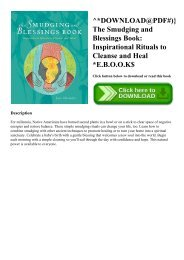 ^DOWNLOAD@PDF#)} The Smudging and Blessings Book Inspirational Rituals to Cleanse and Heal E.B.O.O.K$