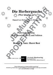 Die Herbergsuche (Klavierbegleitung für Frauenchor SSA oder Kinderchor SA)