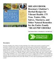 $READ$ EBOOK Rosemary Gladstar's Herbal Recipes for Vibrant Health 175 Teas  Tonics  Oils  Salves  Tinctures  and Other Natural Remedies for the Entire Family ^READ PDF EBOOK#