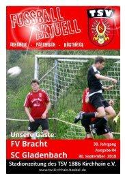 30.09.2018 Stadionzeitung - SC Gladenbach / FV Bracht
