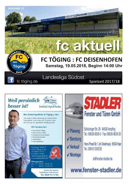 """""""fc aktuell"""" Saison 2017-18 Ausgabe 17"""