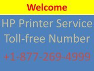 HP Printer Customer Support Help +1-877-269-4999