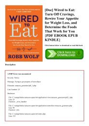 [Doc] Wired to Eat Turn Off Cravings  Rewire Your Appetite for Weight Loss  and Determine the Foods That Work for You {PDF EBOOK EPUB KINDLE}