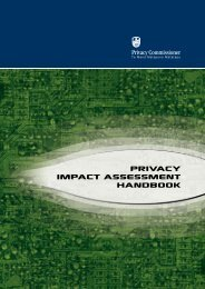 PIA Handbook - Office of the Privacy Commissioner