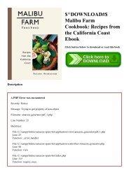 $^DOWNLOAD#$ Malibu Farm Cookbook Recipes from the California Coast Ebook