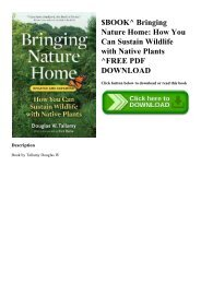$BOOK^ Bringing Nature Home How You Can Sustain Wildlife with Native Plants ^FREE PDF DOWNLOAD