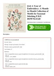 [txt] A Year of Embroidery A Month-to-Month Collection of Motifs for Seasonal Stitching P.D.F. DOWNLOAD