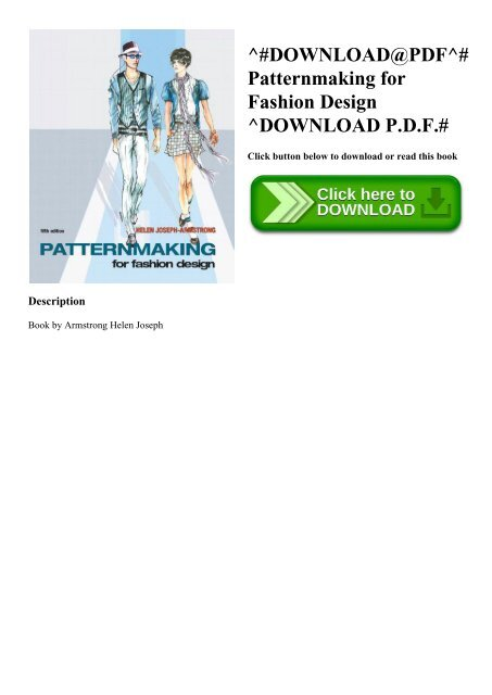 Download Pdf Patternmaking For Fashion Design Download P D F