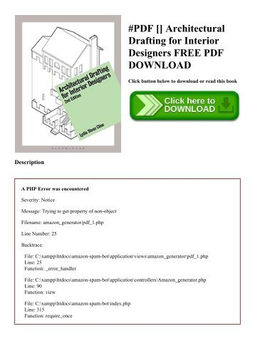 #PDF [Download] Architectural Drafting for Interior Designers FREE PDF DOWNLOAD