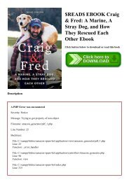 $READ$ EBOOK Craig & Fred A Marine  A Stray Dog  and How They Rescued Each Other Ebook