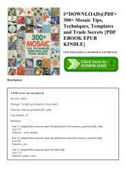 Download mosaic ebook