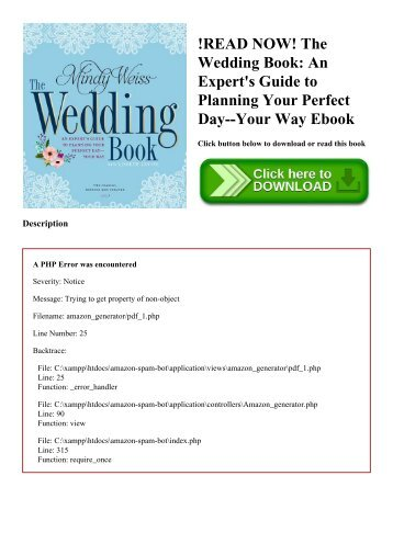 READ NOW The Wedding Book An Experts Guide To Planning Your Perfect Day