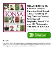 $READ$ EBOOK The Complete Practical Encyclopedia of Bonsai The Essential Step-by-Step Guide to Creating  Growing  and Displaying Bonsai With over 800 Photographs ^READ PDF EBOOK#