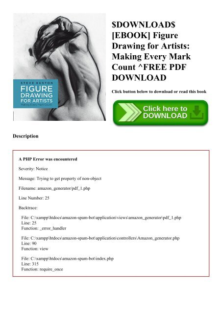 Download Ebook Figure Drawing For Artists Making Every Mark Count
