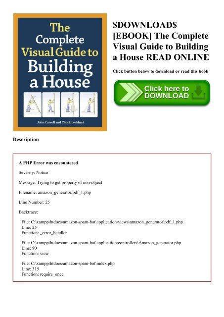 DOWNLOAD$ [EBOOK] The Complete Visual Guide to Building a House READ