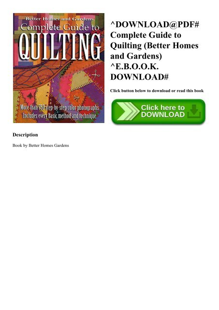 Download@pdf# complete guide to quilting (better homes and gardens.