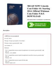 !READ NOW! Lincoln Cent Folder #4 Starting 2014 Official Whitman Coin Folder P.D.F. DOWNLOAD