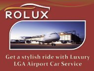 Get a stylish ride with Luxury LGA Airport Car Service (1)
