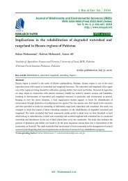 Implications in the rehabilitation of degraded watershed and rangeland in Hazara regions of Pakistan