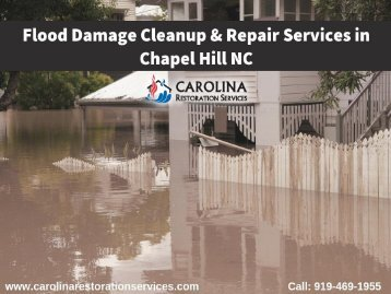 Flood Damage Cleanup & Repair Services in Chapel Hill NC