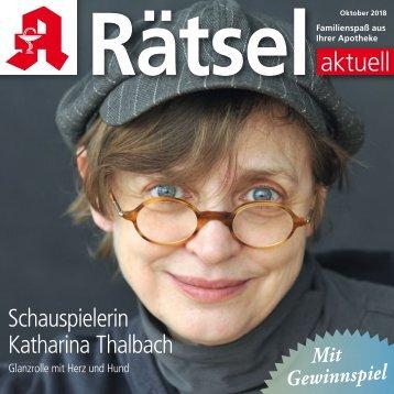 """Leseprobe """"Rätsel-aktuell"""" Oktober 2018"""