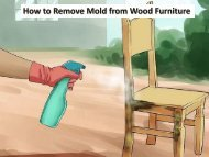 How to Remove Mold from Wood Furniture