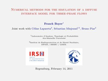 Numerical methods for the simulation of a diffuse interface ... - CMI