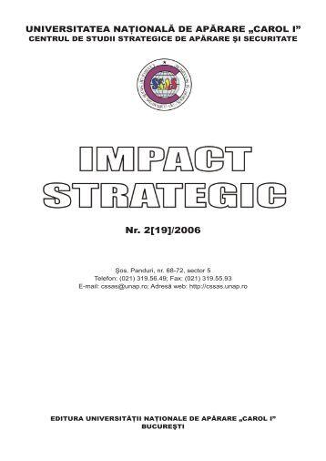 """Nr. 2[19]/2006 - Universitatea Naţională de Apărare """"Carol I"""""""