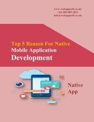 Top 5 Reason For Native Mobile Application Development
