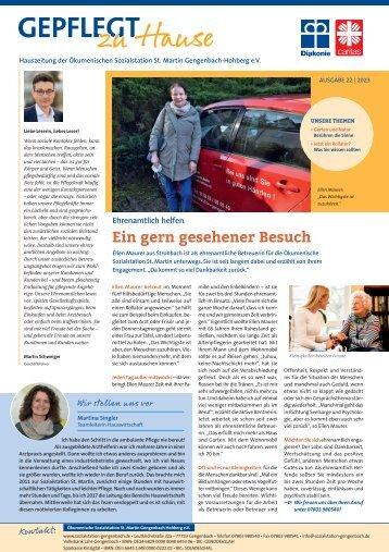 Hauszeitung - Ökumenische Sozialstation St. Martin