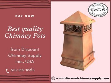 Buy Chimney Pots at best price from Discount Chimney Supply Inc.
