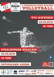 Spieltagsnews Nr. 2 gegen VCO Schwerin & Stralsunder Wildcats