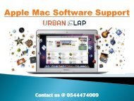 Grab the Apple Mac Software Support in Dubai, Call 0544474009