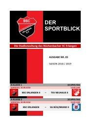 Der Sportblick (Ausgabe Nr. 03 | 18/19)