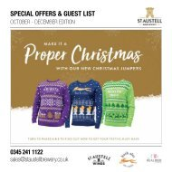 Special Offers & Guest List - Oct - Dec Edition