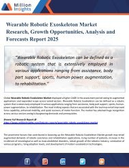 Wearable Robotic Exoskeleton Market Forecasting to Development Ratio with Huge Marginal Revenue Analysis Detailing by 2025