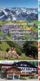 Freizeitheim Krebs - Jahresprogramm 2019