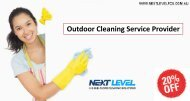 Flat 20% OFF on Outdoor Cleaning Service Provider
