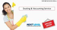 Special Offers on Dusting & Vacuuming Service