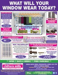 Chiltern Mills : What will your window wear today?