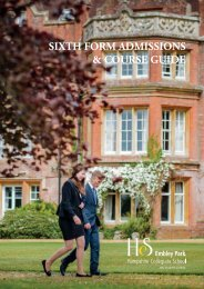 Sixth Form Admissions & Course Guide 2019-20
