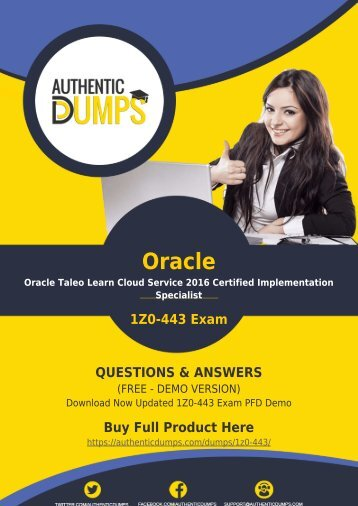 Get Best 1Z0-443 Exam BrainDumps - Oracle 1Z0-443 PDF