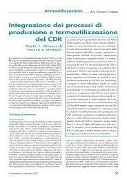 Integrazione dei processi di produzione e termoutilizzazione del CDR