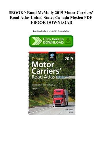 Road Atlas Scenic Drives Edition United States Canada Mexico
